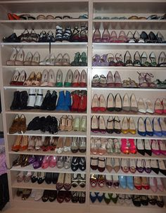 Bookcase For Shoe Storage, If Only I Had That Many Pairs Of Shoes. Wardrobe