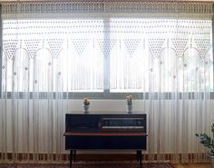 Macrame curtain / wall hanging / wedding backdrop with natural