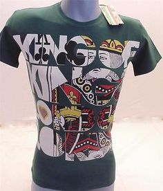 Xl T-shirt King Of Kings Lord Of Lords Ed Hardy Style Cards Poker Unique Green