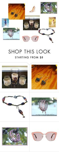 """""""Just for You"""" by gillilandice ❤ liked on Polyvore featuring beauty, KAROLINA and Prada"""