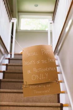 Bridal party only sign - getting ready sign wedding morning