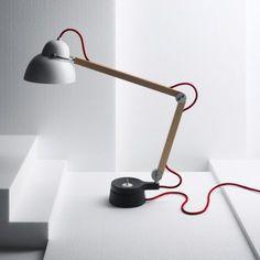 Wood desk light