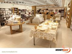 MONEYBACK MEXICO. Zara Home is a chain of shops specializing in home fashion and decoration. Around 70% of its products are textile goods for the bedroom, table and bathroom, as well as decorative ornaments and household items such as tableware, cutlery and glassware. Visit ZARA HOME in Mexico and get a Moneyback tax refund! #moneyback www.moneyback.mx