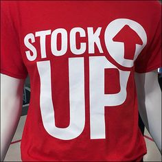 """The """"Stock Up"""" theme is an often regular at this departments store, but the personalized T-Shirts a first for me. Repeating a sale theme brands it your own and makes more memorable in the public m…"""