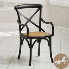 @Overstock.com - Christopher Knight Home Mandalay Black Birch Dining Chair - The Mandalay arrives completely assembled and ready to use in any room in your house! Like its European counterpart, our Mandalay crossback chair is made in the traditional style first made popular in Austria.  http://www.overstock.com/Home-Garden/Christopher-Knight-Home-Mandalay-Black-Birch-Dining-Chair/8474661/product.html?CID=214117 $159.99