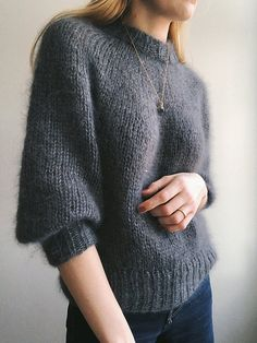 Night Sweater Saturday Night Sweater Ravelry: Saturday Night Sweater pattern by PetiteKnit White mohair sweater fitted Long-sleeved sweater from Sweater Knitting Patterns, Knit Patterns, Free Knitting, Knitting Sweaters, Loom Knitting, Knitting Needles, Stitch Patterns, Pull Mohair, New Shape
