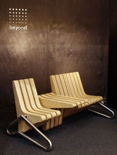 Space saving coffee bench design BEYOND standards rotating elements