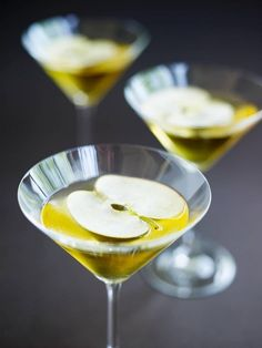 Apple cocktail that isn't lime green