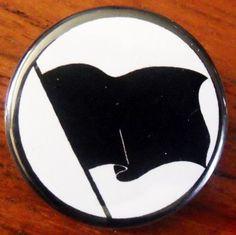"ANARCHIST BLACK FLAG pinback button badge 1.25"" $1.50 plus shipping!"