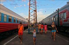 transiberian train, station