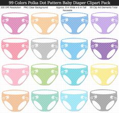 Love these rainbow polka dot baby diaper clipart! Prints large and perfect for my baby shower decorations. Perfect For Me, Baby Shower Printables, Baby Shower Decorations, Rainbow Colors, Polka Dots, Clip Art, Prints, Rainbow Colours, Polka Dot