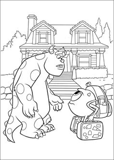 Monsters Inc. - University Coloring Pages 12