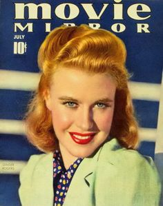 Ginger Rogers - Movie Mirror Magazine Cover 1930's