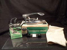 Clothes Iron-Vintage GE  World Wide Travel Iron with Original Box and Instructions-Tutt Estate by BCScollectibles on Etsy