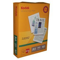 Price Rs.1,417/-Buy Kodak Universal Copier A4 80 GSM Box of 5 Reams in Online India