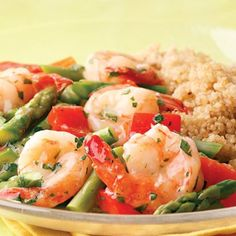 Lemon-Garlic Shrimp and Vegetables