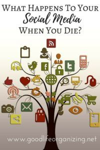 What Happens to Your Social Media Accounts When you Die? | Good Life Organizing