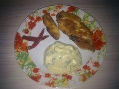 piept de pui cu maioneza | Dieta Dukan Carne, Eggs, Meat, Chicken, Breakfast, Food, Morning Coffee, Essen, Egg