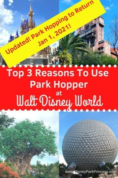 Great news! The Park Hopper option is returning to Walt Disney World in 2021, but it will look a little different. Here is what has changed and our top 3 reasons we love Park Hopping! #parkhopper #disneyworld #disneyplanning #disneyparkhopping #disneytickets #disneytips