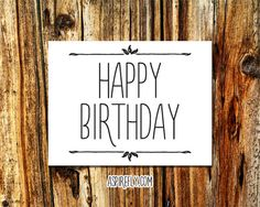 Birthday Cards Handmade INSTANT DOWNLOAD  by AspireflyPrintables
