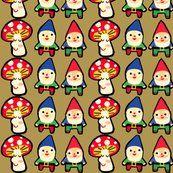 Gnome Mushroom Mash fabric by Heidi Kenney