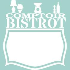Wall decals whiteboards - Wall decal Comptoir bistrot - ambiance-sticker.com