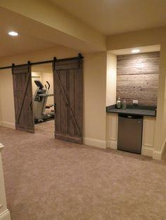Rustic Basement, Golf Themed Basement & Beach Themed Basement - Rustic Basement By Bella Luxe Home Design & Interiors, Llc