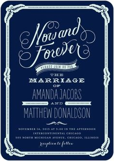Make a statement with your wedding invitation with this stunning design.Vintage inspired typography and embellishments give this wedding invitation design a timeless touch.