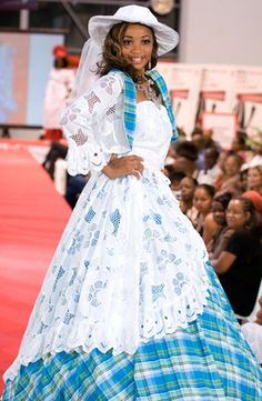 Hot Black Women, Caribbean Queen, Blue And White Dress, Africa Fashion, Southern Belle, Mode Style, Traditional Dresses, Victorian Fashion, Fashion Outfits