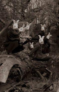 Vintage Creepy Bunnies