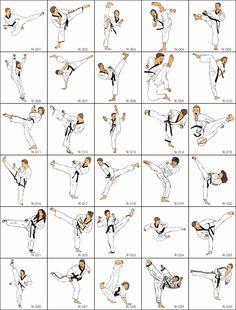 Basics movements of #@Taekwondo#@