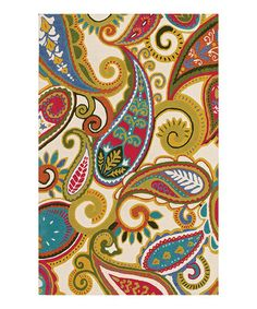 Love this Snow Paisley Serendipity Wool Rug on #zulily! #zulilyfinds
