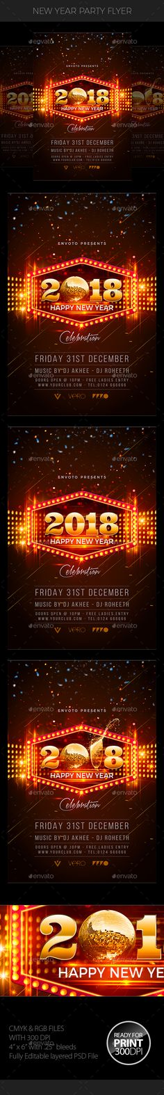 New Year Celebration Party Party poster, Anniversary parties and - new year poster template