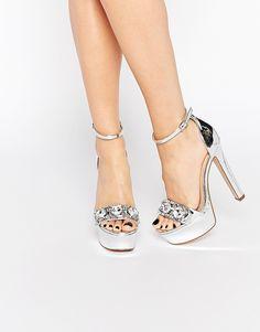 ASOS | ASOS HILLTOP Embellished Heeled Sandals | $86