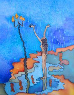 Girl in the rain from $27.99   www.wallartprints.com.au #ModernArt