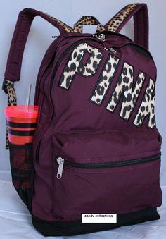 VICTORIA'S+SECRET+Backpack+Bookbag+Campus+Bag+.+Maroon+Waterproof.+NWT+#VictoriasSecret+#Bookbag