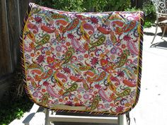 Quilted Paisley Dressage English Saddle pad by PegasusThreads, $55.00