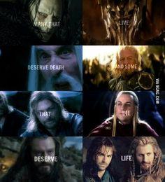Lie down, try not to cry, cry a lot <- The Fangirl Mantra right there. Thranduil, Legolas, Aragorn, Earth Memes, Cry A Lot, Try Not To Cry, Bagginshield, O Hobbit, Hobbit Hole