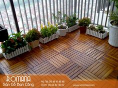 Wood Deck Tiles, Balcony Design, Patio, Garden, Outdoor Decor, Pictures, Home Decor, Balcony Decoration, Small Balconies