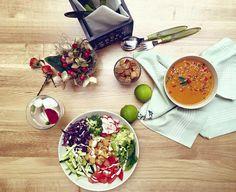 #Supa crema #Maroc si #salata cu #cartofi aurii #raw #vegan #mancamsanatos