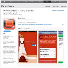 iPhone App Design and Development Itunes Charts, Iphone App Design, Underfloor Heating