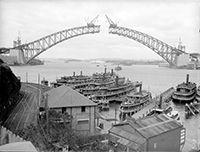 Sydney Harbour Bridge : Sydney Harbour Bridge from the North Shore, 1930-1932 : NSW Government Shop | shop.nsw