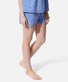 Shorts with embroidered border detail - OYSHO