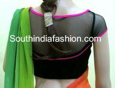 Cocktail Saree Blouse ~ Celebrity Sarees, Designer Sarees, Bridal Sarees, Latest Blouse Designs 2014 South India Fashion
