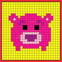 Lotso tsum tsum perler bead hama bead crochet graphghan pattern