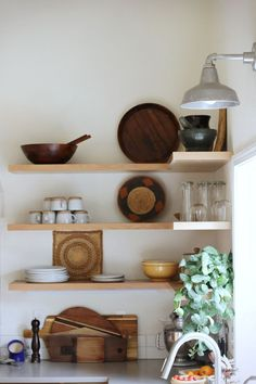 Upper Cabinets Were Skipped In Favor Of Open Shelving In This Portland, Oregon Tour On Design*Sponge