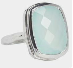 Looks like sea glass!  Sterling Silver and Chalcedony