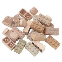日本の木のおもちゃ 木のブロック・もくロック・小 24ピース   365 JOYFUL DAYS   MUJI 無印良品