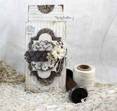 Gorgeous tag, by Heather Jacob.  Papers from MajaDesign.    #tag #papercraft #papercrafting #papercrafts #scrapbooking #scrapbook #scrapping #scrap #majadesign #majadesignpaper #majapapers #inspiration #vintage