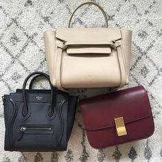 "@projectluxe on Instagram: ""Céline or Celine? I think it's probably obvious which one I prefer! . . . . . #celinebag #celineaddict #phoebephilo #oldceline #celine…"" Phoebe Philo, Celine Bag, Things To Think About, Satchel, Bags, Instagram, Fashion, Handbags, Moda"